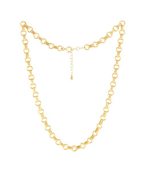 14k gold filled antique layering chain necklace