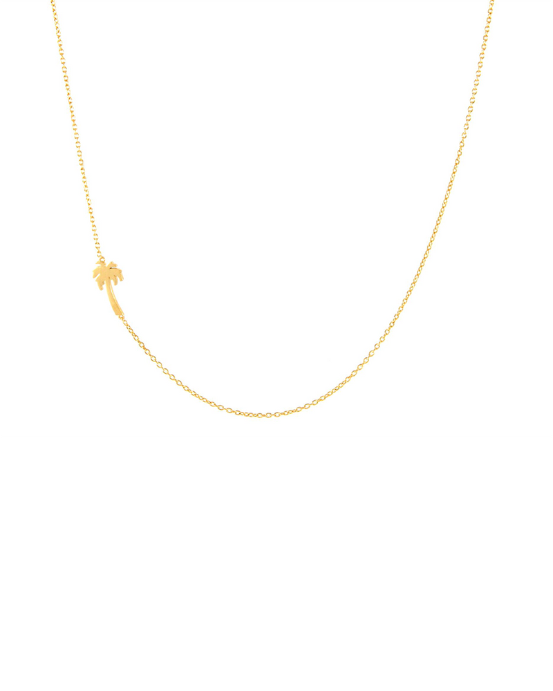 demi-fine palm tree gold necklace