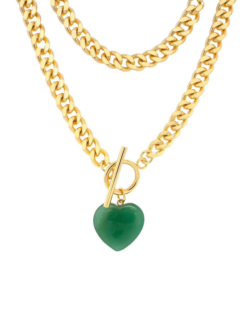 Oh Girl Necklace - Green Aventurine