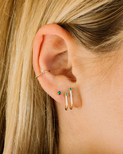 Socialite Stud Earrings - Emerald