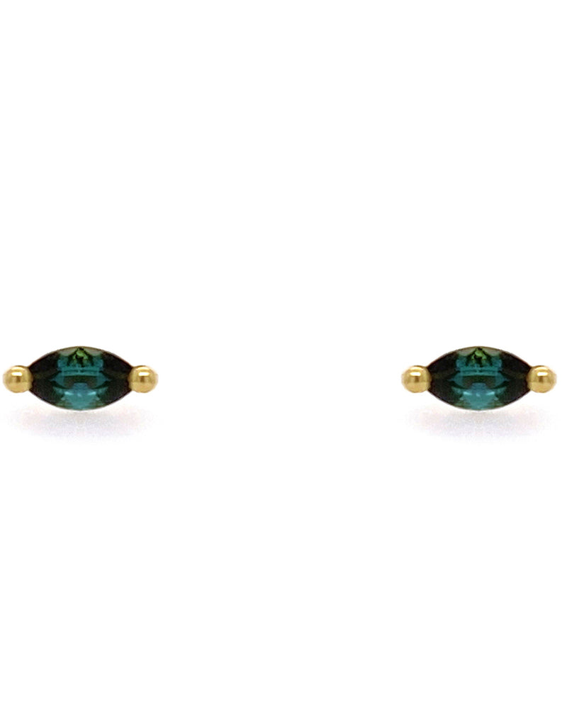 The Little Foxes Stud Earrings - Tourmaline