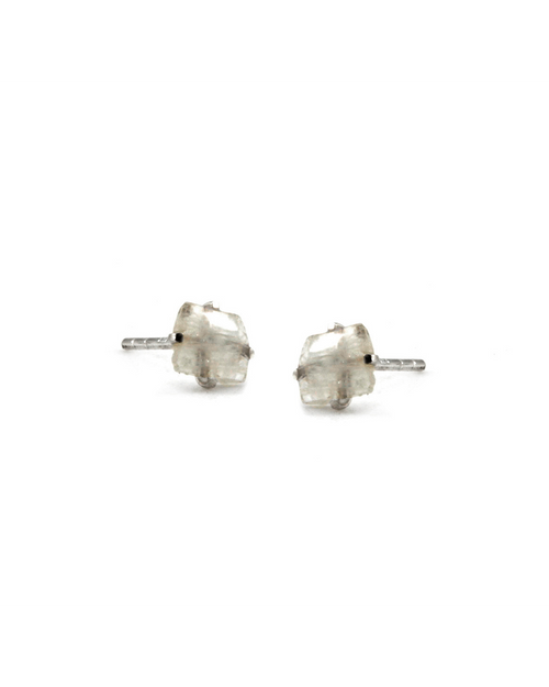 Moonstone Raw Stone Earrings