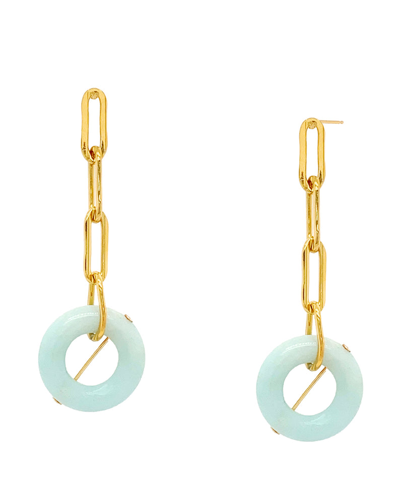 Dreams Chain Earrings - Jade