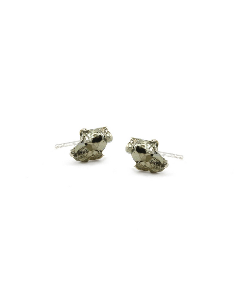 Pyrite Raw Stone Earrings