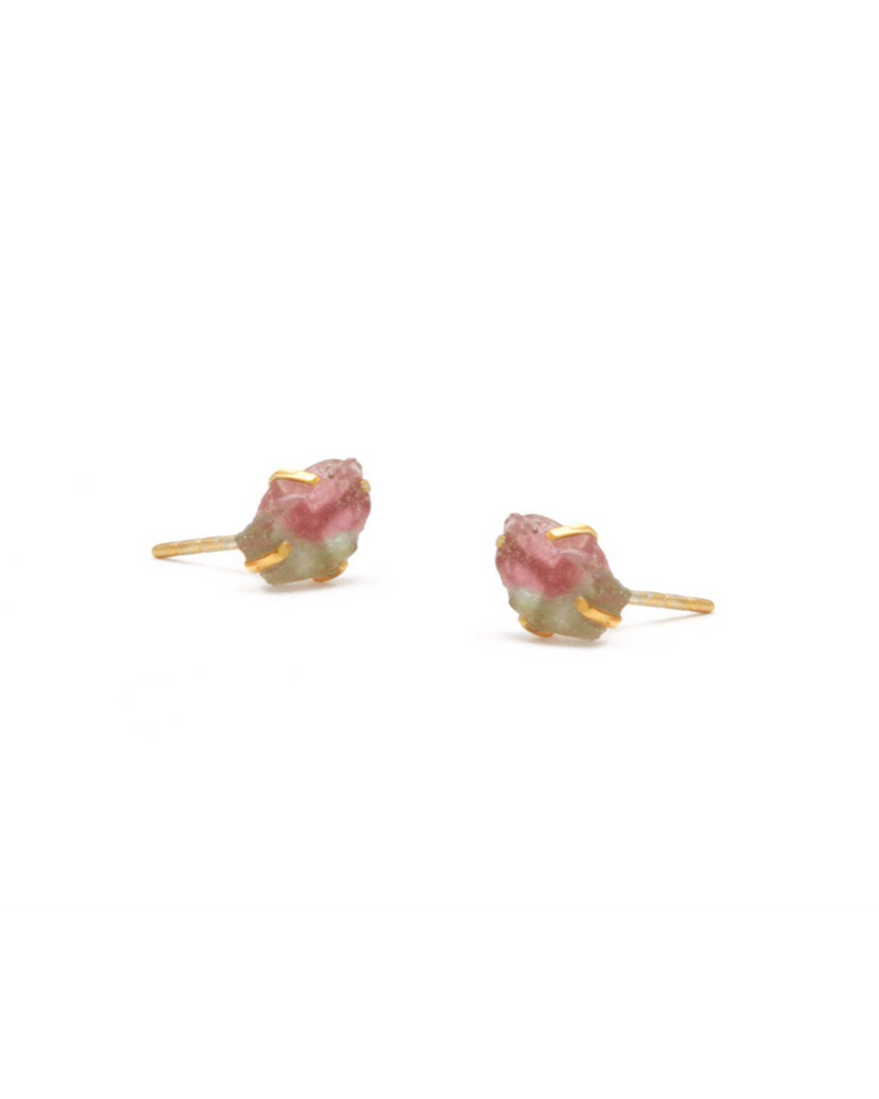 Tourmaline Raw Stone Earrings
