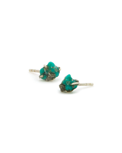 Turquoise Raw Stone Earrings