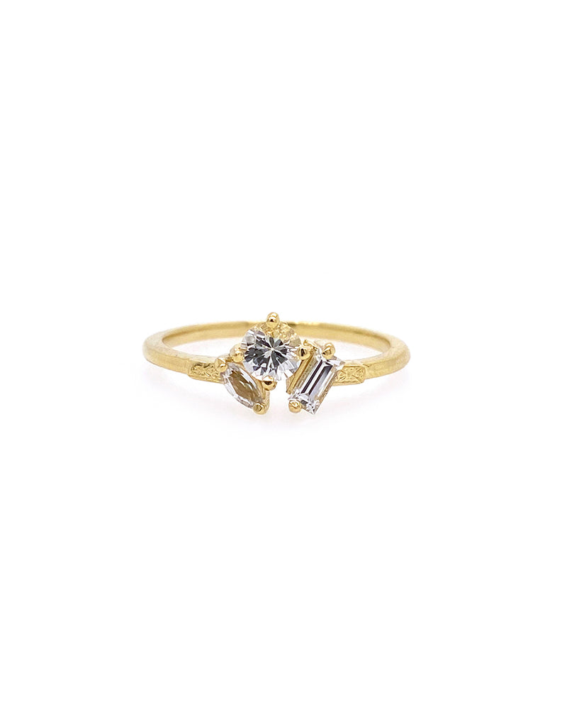 The Kelly Ring - White Sapphire