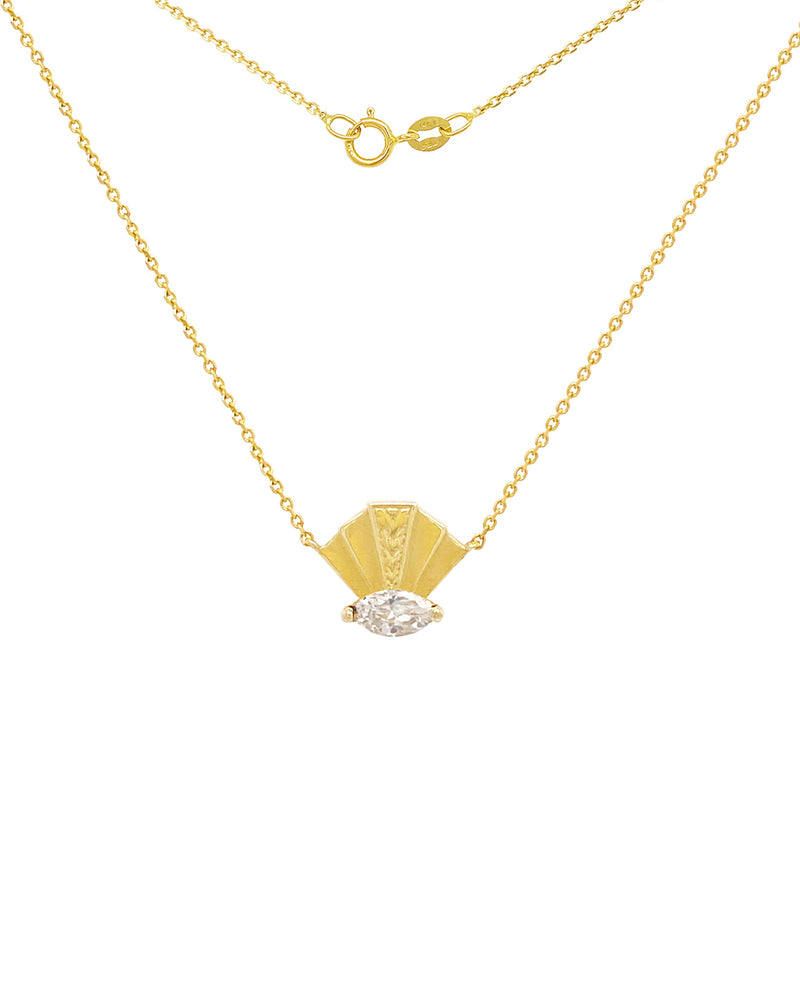The Elizabeth Necklace - White Sapphire