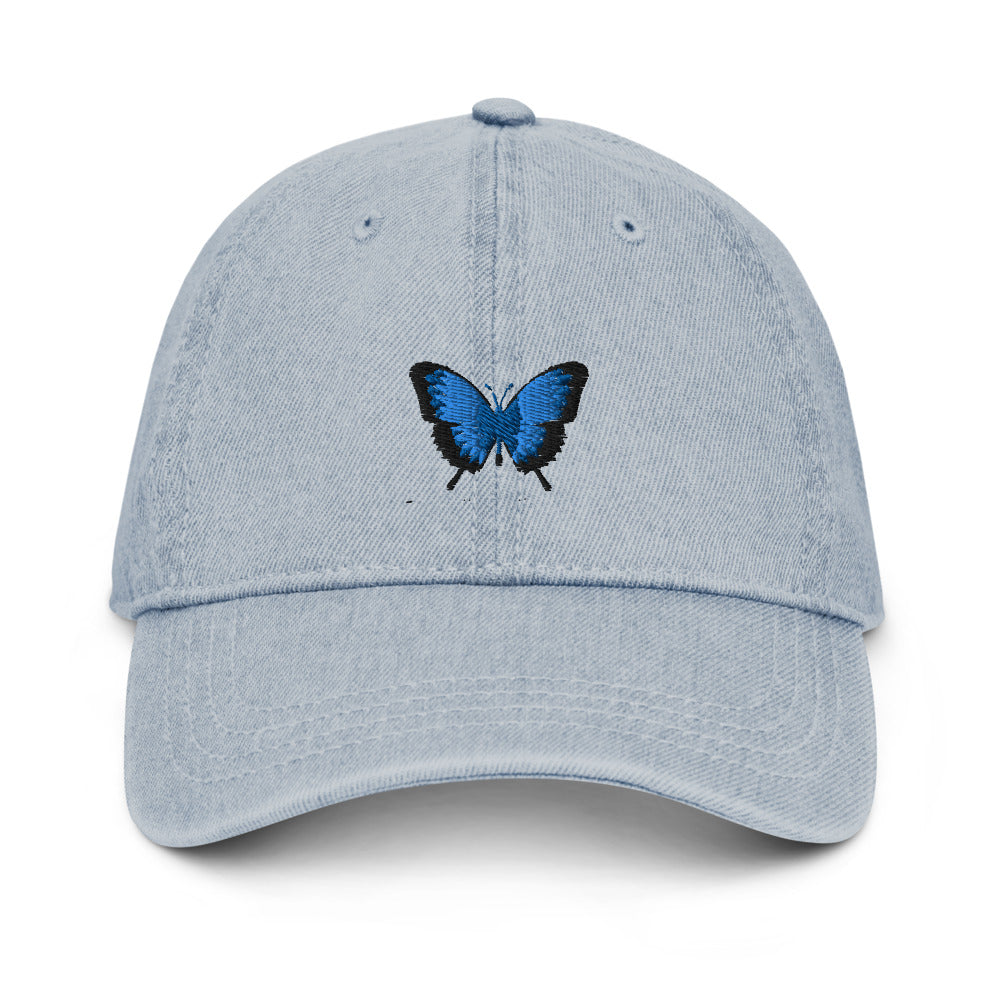 Denim Butterfly Hat