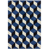 Asiatic Carpets Arlo Machine Knitted Rug Blue Block - 100 X 150cm - Asiatic Carpets - Rugs - Arlo1001500011 - 1