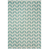 Asiatic Carpets Arlo Machine Knitted Rug Chevron Blue - 100 X 150cm - Asiatic Carpets - Rugs - Arlo1001500005 - 1