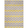 Asiatic Carpets Arlo Machine Knitted Rug Chevron Lemon / Grey - 120 X 170cm - Asiatic Carpets - Rugs - Arlo1201700006 - 1