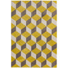 Asiatic Carpets Arlo Machine Knitted Rug Yellow Block - 100 X 150cm - Asiatic Carpets - Rugs - Arlo1001500009 - 1