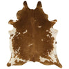 Asiatic Carpets Rodeo Cowhide Hand Finished Rug Brown & White - 100 X 100cm - Asiatic Carpets - Rugs - RODE1001000002 - 1