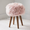Blush Pink Sheepskin Stool by Native Home & Lifestyle - Native Home & Lifestyle - Stools - ST-SHEEP-PINK - 1