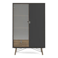 Cabinet 1 Door + 1 Glass Door + 1 Drawer - FTG - Cabinets - 72186008gmdj - 4