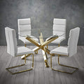 Capri Dining Table Glass top with Gold Legs - Lenora - Dining Tables - CAPRITAB - 3