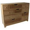 Casso Rattan Style Chest of 12 Drawers - Bluebone - Chest of Drawers - SK0RATT12 - 1