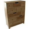 Casso Rattan Style Tall Multi Chest of 10 Drawers - Bluebone - Chest of Drawers - SK0RATT13 - 1