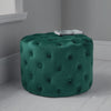 Dark Green Tufted Velvet Pouffe by Native Home & Lifestyle - Native Home & Lifestyle - Pouffes - ST-BUTTON-GREEN - 1