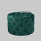 Dark Green Tufted Velvet Pouffe by Native Home & Lifestyle - Native Home & Lifestyle - Pouffes - ST-BUTTON-GREEN - 2