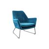 Delilah Armchair - Blue Velvet - Distinctive Designs - Armchairs - SR-BLUEVELVETARMCHAIR1 - 1