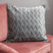 Diamond Pattern Grey Velvet Cushion by Native Home & Lifestyle - Native Home & Lifestyle - Cushions - CUS-DIAMOND-GREY - 1