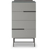 Gillmore Space | Alberto Four Drawer Narrow Chest | Grey with Dark Chrome Accent - Gillmore Space - Chest of Drawers - 119-235 - 1