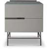 Gillmore Space| Alberto Two Drawer Narrow Chest | Grey with Dark Chrome Accent - Gillmore Space - Chest of Drawers - 119-231 - 1