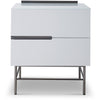 Gillmore Space | Alberto Two Drawer Narrow Chest | White with Dark Chrome Accent - Gillmore Space - Chest of Drawers - 119-230 - 1
