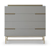 Gillmore Space Alberto Wide Chest with Four Drawers Grey with Brass Accent - Gillmore Space - Chest of Drawers - 119-221 - 1