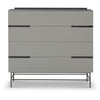 Gillmore Space Alberto Wide Chest with Four Drawers Grey with Dark Chrome Accent - Gillmore Space - Chest of Drawers - 119-223 - 1