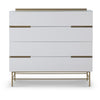 Gillmore Space Alberto Wide Chest with Four Drawers White with Brass Accent - Gillmore Space - Chest of Drawers - 119-220 - 1