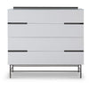 Gillmore Space Alberto Wide Chest with Four Drawers White with Dark Chrome Accent - Gillmore Space - Chest of Drawers - 119-222 - 1