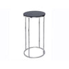 Gillmore Space Kensal Circular Lamp Stand | Black Glass with Polished Base - Gillmore Space - Lamp Table - 714-216 - 1