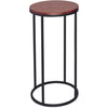 Gillmore Space Kensal Circular Lamp Stand | Walnut with Black Base - Gillmore Space - Lamp Table - 714-223 - 1