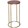 Gillmore Space Kensal Circular Lamp Stand | Walnut with Brass Base - Gillmore Space - Lamp Table - 714-224 - 1