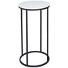 Gillmore Space Kensal Circular Lamp Stand | White Glass with Black Base - Gillmore Space - Lamp Table - 714-214 - 1