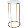 Gillmore Space Kensal Circular Lamp Stand | White Glass with Brass Base - Gillmore Space - Lamp Table - 714-215 - 1