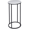 Gillmore Space Kensal Circular Lamp Stand | White Marble with Black Base - Gillmore Space - Lamp Table - 714-220 - 1