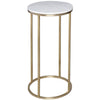 Gillmore Space Kensal Circular Lamp Stand | White Marble with Brass Base - Gillmore Space - Lamp Table - 714-221 - 1