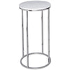 Gillmore Space Kensal Circular Lamp Stand | White Marble with Polished Base - Gillmore Space - Lamp Table - 714-219 - 1