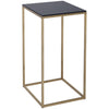 Gillmore Space Kensal Square Lamp Stand | Black Glass with Brass Base - Gillmore Space - Lamp Table - 714-242 - 1