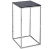 Gillmore Space Kensal Square Lamp Stand | Black Glass with Polished Base - Gillmore Space - Lamp Table - 714-240 - 1