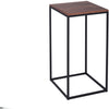 Gillmore Space Kensal Square Lamp Stand | Walnut with Black Base - Gillmore Space - Lamp Table - 714-247 - 1