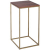 Gillmore Space Kensal Square Lamp Stand | Walnut with Brass Base - Gillmore Space - Lamp Table - 714-248 - 1