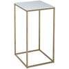Gillmore Space Kensal Square Lamp Stand | White Marble with Brass Base - Gillmore Space - Lamp Table - 714-245 - 1