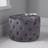 Grey Tufted Velvet Pouffe by Native Home & Lifestyle - Native Home & Lifestyle - Pouffes - ST-BUTTON-GREY - 1