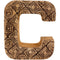 Hand Carved Wooden Geometric Letter C - Nortje - Decor - N1002-C - 1
