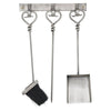 Hanging Antique Pewter Fireside Companion Set With Heart Detailing - Accessories - Hill Interiors - 10-26-20, Accessories, Accessories_Decorative, brand_Hill Interiors, dps, Living_Fire Surround, quick ship, quickship, zcode:19146 - Hanging Antique Pewter Fireside Companion Set With Heart Detailing - Luxury Loft Co.